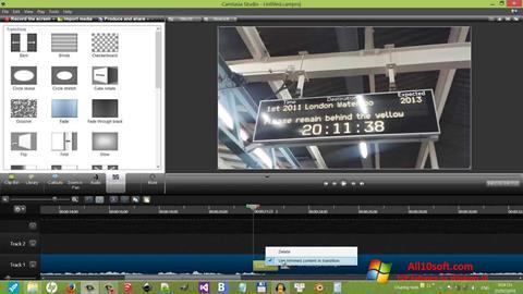 Screenshot Camtasia Studio para Windows 10