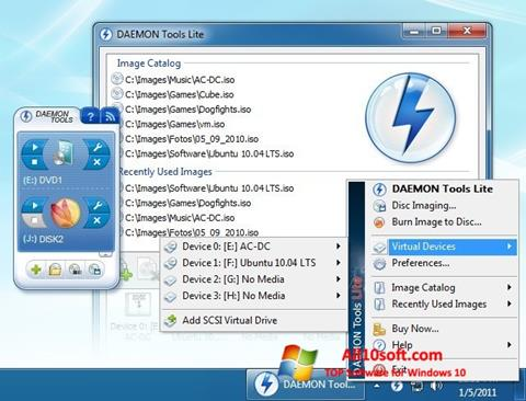 Screenshot DAEMON Tools Lite para Windows 10
