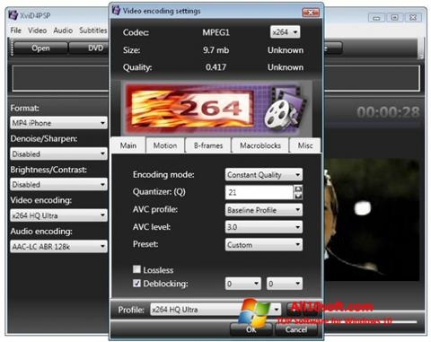 Screenshot XviD4PSP para Windows 10