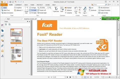 Screenshot Foxit Reader para Windows 10