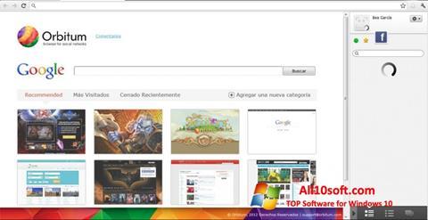 Screenshot Orbitum para Windows 10