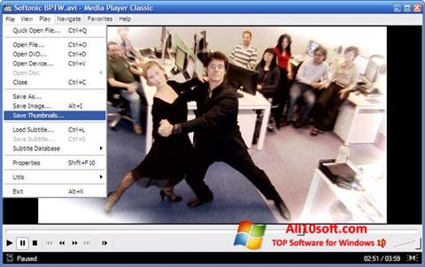 Screenshot Media Player Classic para Windows 10