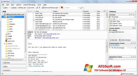 Screenshot eM Client para Windows 10