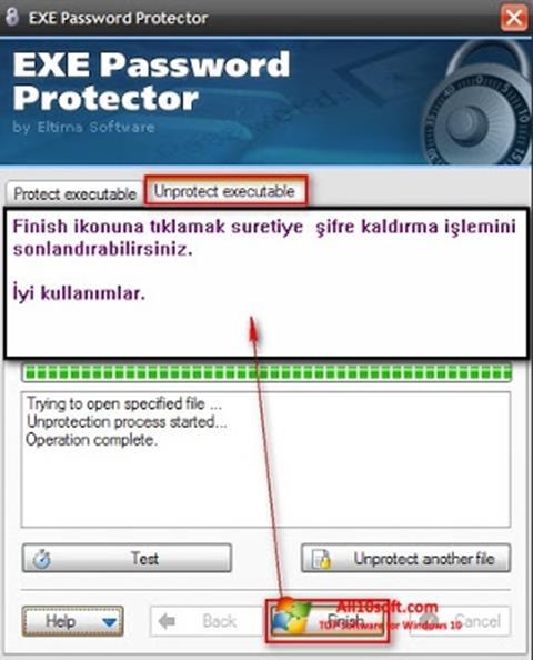 Screenshot EXE Password para Windows 10
