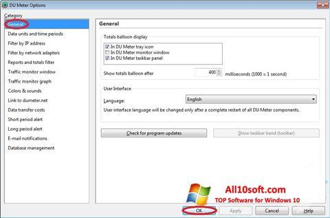 Screenshot DU Meter para Windows 10