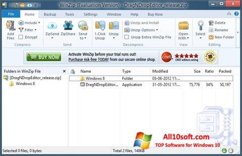 Screenshot WinZip para Windows 10