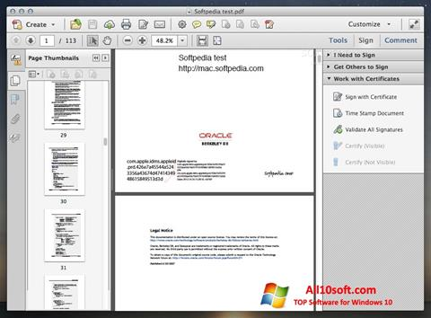 Screenshot Adobe Acrobat para Windows 10