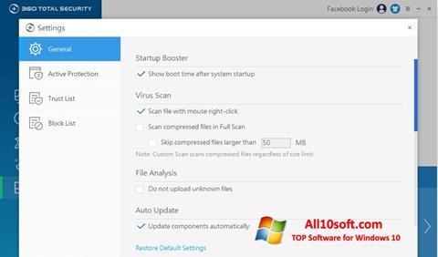 Screenshot 360 Total Security para Windows 10
