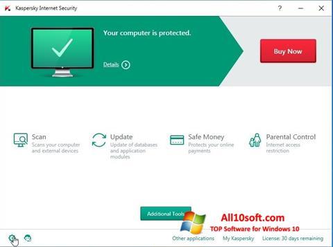 Screenshot Kaspersky Internet Security para Windows 10