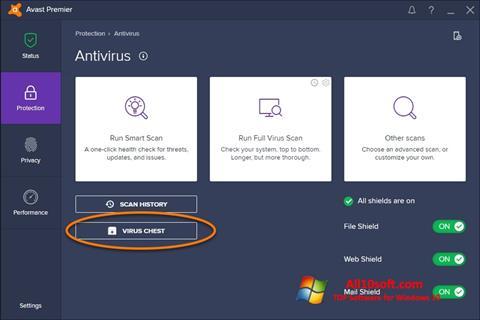 Screenshot Avast para Windows 10