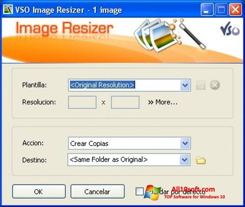 Screenshot VSO Image Resizer para Windows 10