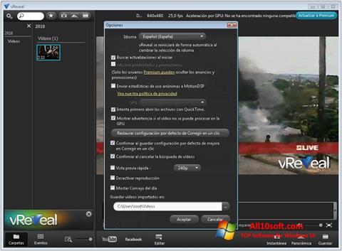 Screenshot vReveal para Windows 10