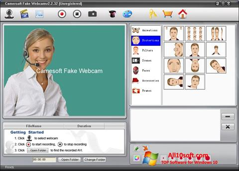 Screenshot Fake Webcam para Windows 10
