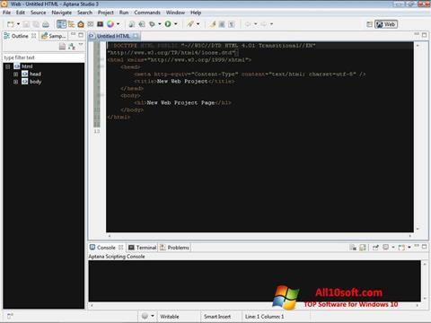 Screenshot Aptana Studio para Windows 10