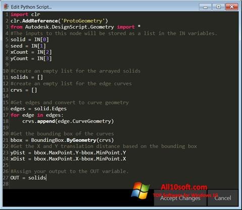 Screenshot Python para Windows 10