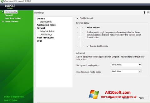 Screenshot Outpost Firewall Free para Windows 10