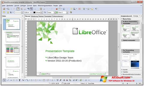 Screenshot LibreOffice para Windows 10