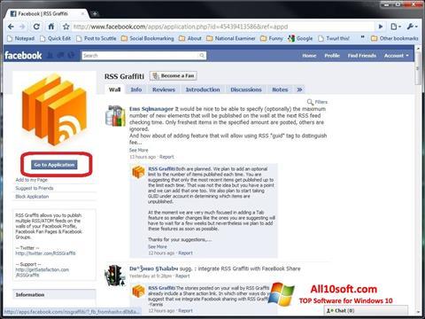 Screenshot Facebook para Windows 10