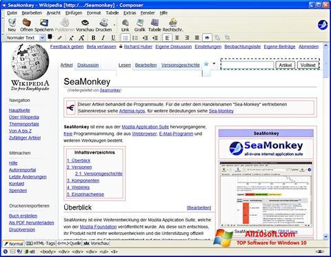 Screenshot SeaMonkey para Windows 10
