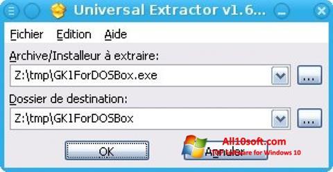 Screenshot Universal Extractor para Windows 10
