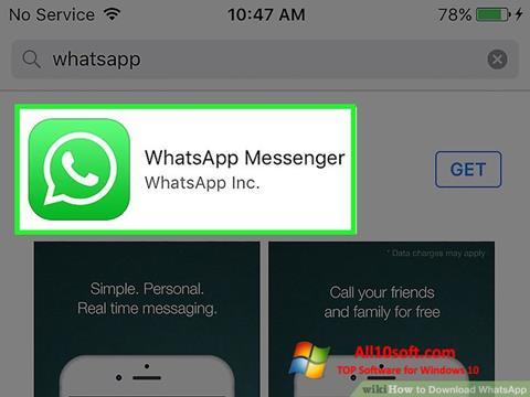 Screenshot WhatsApp para Windows 10