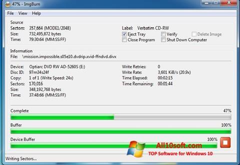 Screenshot ImgBurn para Windows 10