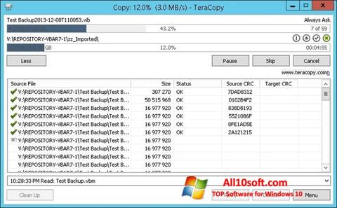 Screenshot TeraCopy para Windows 10