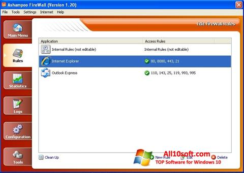 Screenshot Ashampoo Firewall para Windows 10