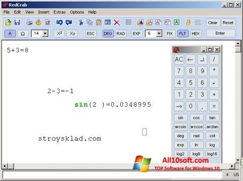 Screenshot RedCrab Calculator para Windows 10