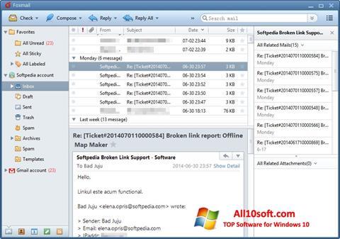 Screenshot FoxMail para Windows 10