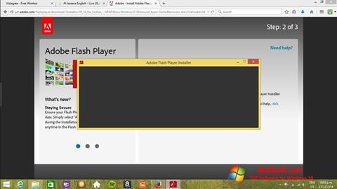 Screenshot Adobe Flash Player para Windows 10