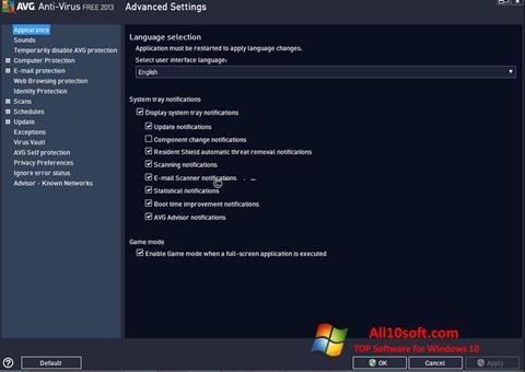 Screenshot AVG para Windows 10