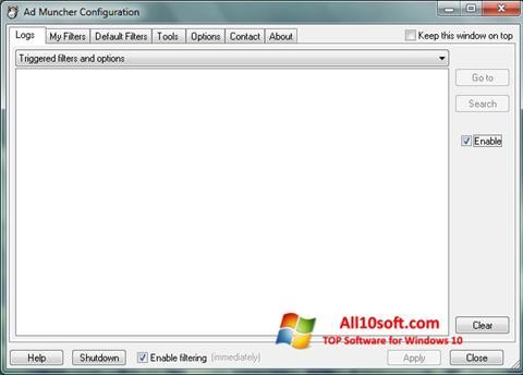 Screenshot Ad Muncher para Windows 10