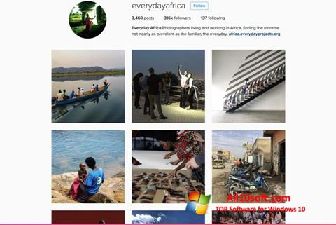 Screenshot Instagram para Windows 10