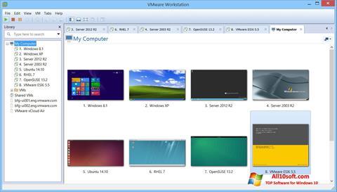 Screenshot VMware Workstation para Windows 10
