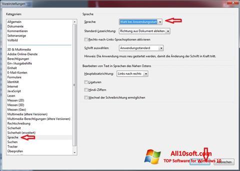 Screenshot Adobe Reader para Windows 10