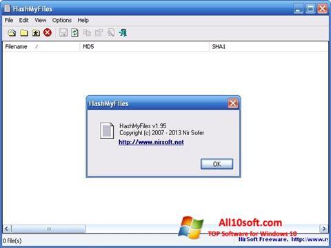 Screenshot HashMyFiles para Windows 10