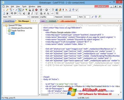 Screenshot CuteFTP para Windows 10